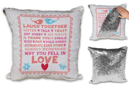 Always Remember Why You Fell in Love Sequin Reveal Magic Cushion Cover